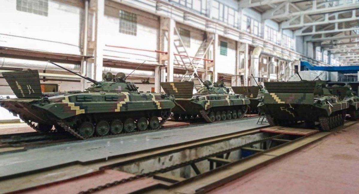Another batch of BMP-2 armored fighting vehicles, refurbished and upgraded, were delivered to the Ukrainian army in March 2021 / Photo courtesy of Ukroboronprom