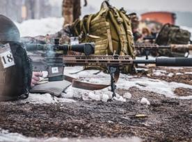 National Guard of Ukraine (NGU) Mastering the Use of Domestically-Produced Sniper Rifle, the UAR-10